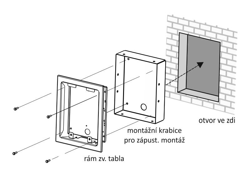 Zvonkové tablo GENOVA - Do rámku - montáž